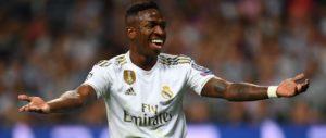 Vinicius Junior on target:Club Brugge 1-3 Real Madrid