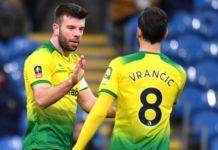 Burnley 1-2 Norwich   Hanley & Drmic score
