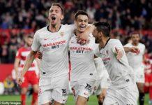 Sevilla 2-0 Granada: Hosts close gap to Barcelona to five points
