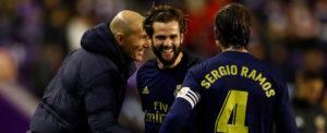 Real Valladolid 0-1 Real Madrid: Nacho header sends Zidane's men top
