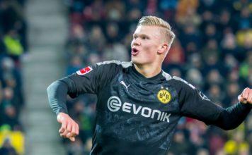 Augsburg 3-5 Borussia Dortmund: Haaland hits debut hat-trick