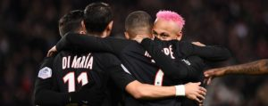 PSG routs Montpellier 5-0 to extend lead